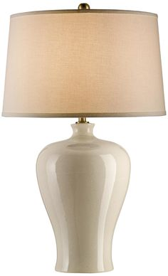 Currey And Company Blaise Cream Crackle Table Lamp -