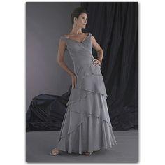 Pretty chiffon dress in silver