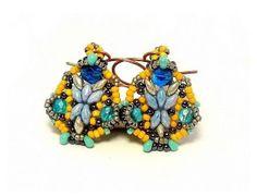 "Earrings  Tutorial ""Ringing Bells"" with Superduo beads"