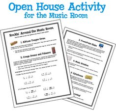 Rockin Around the Music Room - Open House activity to educate parents and lessen chaos.