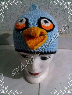 Gorro tejido de Jay, Jake y Jim (pájaro azul que se divide en 3 de Angry Birds)