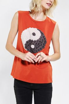 Morning Warrior Yin Yang Muscle Tee #urbanoutfitters