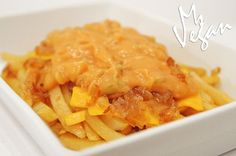 Vegan Version of In & Out's Animal Style Fries #vegan #veganversion #animalstylefries #veganfastfood animals