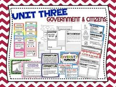 2nd Grade Social Studies - Unit 3 Government & Citizens (includes vocabulary, activities, charts, printables) - TpT