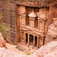 petra, jordan hidden citi, top 10 bucket list, lugar maravilloso, jordans, en petra, ancient place, rum, deserts, bucket lists