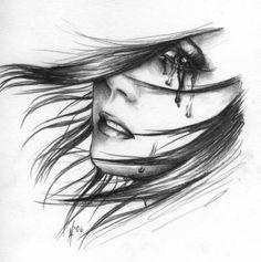sketch, drawing art, hand drawings, drawing hands, tear, cri girl, pencil drawings, art pictures, pencil art