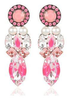 PINK REMINISCE EARRINGS ~ Cynthia Reccord