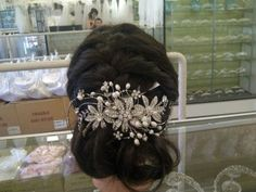 floral vintage hair piece