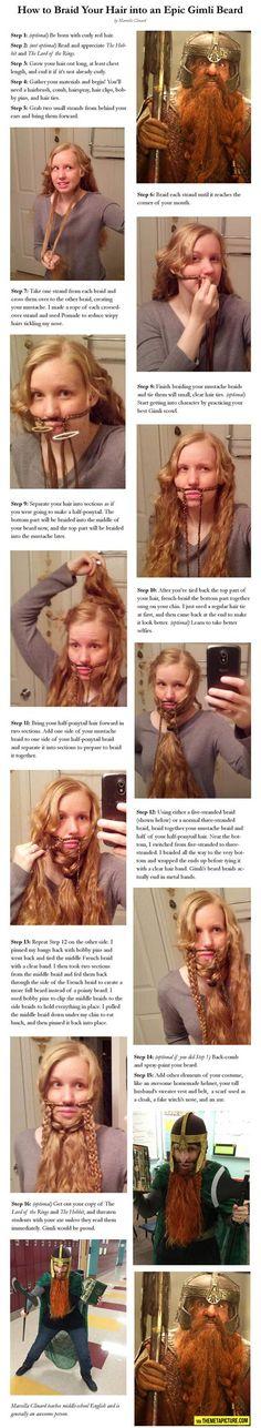 Turning you hair into an epic beard…