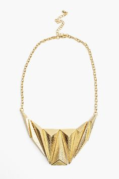 Golden Pyramid Necklace | Nasty Gal