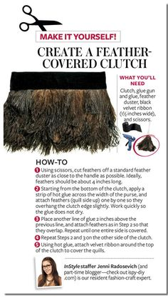 DIY: Feather-Covered Clutch