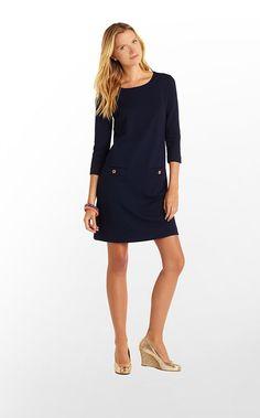 Charlene Dress in True Navy $158 (w/o 1/19/13) #lillypulitzer #fashion #style