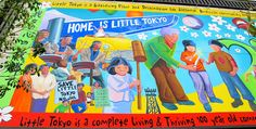"""Little Toyko: a mix of old & new, built on a foundation of Japanese spirit & strength. Visit: Fugetsu-do Sweetshop, lunch at Suehiro Cafe; take a walking tour of Little Tokyo to see: Weller Court (Friendship Knot & Challenger Memorial); at Japanese Village Plaza visit neat gift shop """"Bun-ka Do"""", and """"Foot Land"""" near the Plaza's red tower, 'Lette's macaron shop, a mural on Central Ave/1st St, Japanese American National Museum & MOCA... also check: http://www.visitlittletokyo.com/index.html"""
