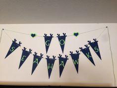 Seahawks banner I made today.. Love my cricut