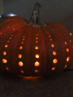 detail of my drilled pumpkin