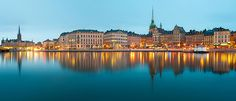 Gamla Stan Blue Hour Panorama, Stockholm, Sweden