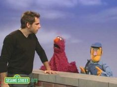 Sesame Street:  Ben Stiller sings about the people in the neighborhood.  {Letter carrier and cable guy}