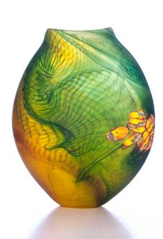 Matthew Farrell Art Glass Vase