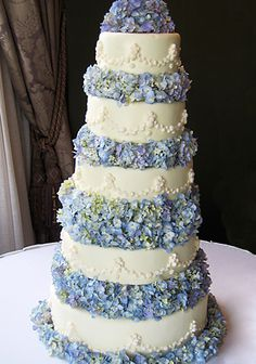BEAUTIFUL hydrangea wedding cake from Sucre in New Orleans