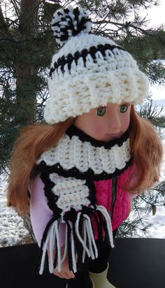 American Girl Doll Clothes  Crocheted Hat by KaraAndMollysDollies, $7.00