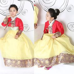 New arrived Red, Yellow hanbok. Korean girl hanbok. Click this picture, go to ebay page :)