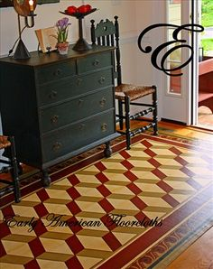canva rug, american floorcloth, interior color, floors, floor cloth, colors, colonial williamsburg decor, design, canvases