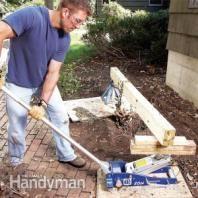 landscap, idea, yard, roots, outdoor, car jack, garden, remov shrub, shrubs