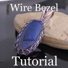 Tutorial by Eat Breathe Design.  Wire bezel made with loops around frame. #wire #jewelry #tutorial