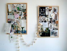 officework space, inspiration boards, bulletin boards, collag, book, lobster, homes, inspir board, garland