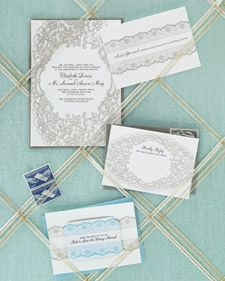 Frame your invitations and requests with a playful lacy pattern. Just type your big-day details into a file with our clip art. One letter-size sheet makes two invites or four response cards. And here's a great tip: Use magnetic paper for the save-the-dates.