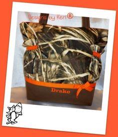 Max 4 Hunters camo duffle diaper bag or great tote for boys or girls | DesignsByKeri4U - Bags & Purses on ArtFire