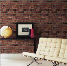 DIY Brick Wall: Brick Wallpaper (Home Depot)