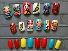 amazing andy warhol themed nails