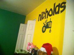 Simply said design for Nicholas' John Deere room