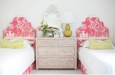 These Headboards - China Seas - Lyford Background :  Nursery Notations: Kids Rooms in Adore Magazine