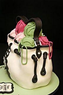 Knitting cake..