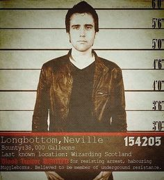 Oh dear god, Neville. I'm so distracted by your gaze that I can barely read what you're wanted for. | These Awesome Posters Show A Darker Ending To Harry Potter