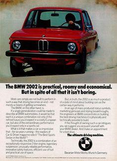 BMW 2002 classic automobil, bmw 2002, automobil ad