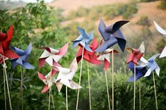 pinwheels as decor // photo by Ashley Bee Photography