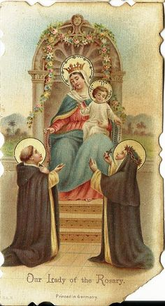 Vintage Our Lady of the Rosary Catholic Prayer by TheIDconnection