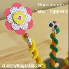 These adorable pencil toppers are perfect for #backtoschool #crafts #kids