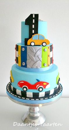 Car Themed Birthday Cake