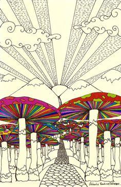 psychedelic #mushroom #shrooms #illustration