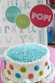 Ready to Pop baby shower cake. #baby #shower #cake