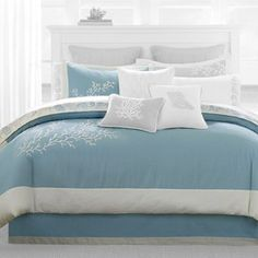 lovely ocean blue beach bedding