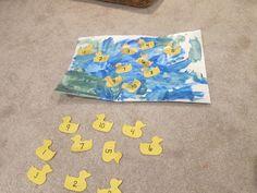 eric carle ten little rubber ducks, 10 little rubber ducks, duck numbers, duck matching, duck lesson plan, preschool duck lessons