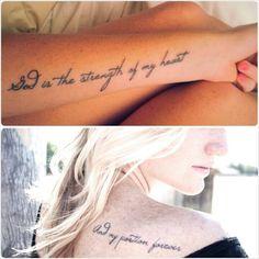Still love it. #tattoo #bible #verse #psalm #script #font
