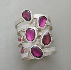 birth stone, garnet gather, ring set, sterling silver, silver band, outer ring, gather ring, jewelri, garnet dangl