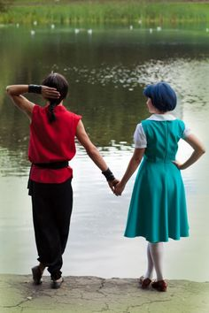 Ranma Saotome and Akane Tendo. This is super cute. I may have to force Preston to do this with me.