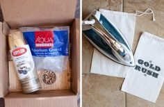 panning for gold activity~ spray paint aquarium gravel with metallic spray paint, sprinkle in an area and the let the search begin. finish the activity with a trip to the trading post. so fun!
